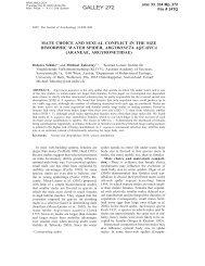 GALLEY 272 - Behavioural Ecology