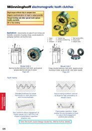Monninghoff Electromagnetic Tooth Clutches (1mb)