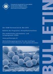 SGIM Bulletin 1-2010 - Schweizerische Gesellschaft für Innere Medizin