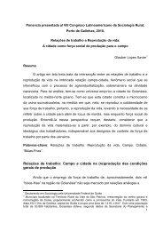 Relações de trabalho: Campo e cidade na (re)produção das ... - alasru