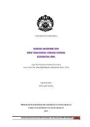 naskah akademik dan draf rancangan undang undang kesehatan jiwa