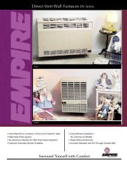 Direct-Vent Wall Furnaces DV Series - Empire Gas Space Heater