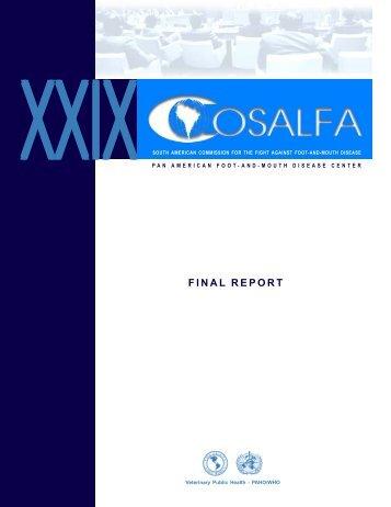 FINAL REPORT - Saúde Pública Veterinária - Panaftosa