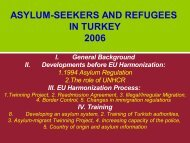 ASYLUM-SEEKERS AND REFUGEES IN TURKEY 2006