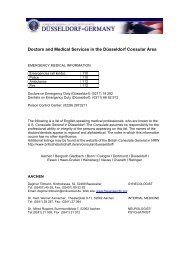 Doctors and Medical Services in the Düsseldorf Consular ... - Germany