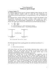 Versuchsprotokoll Mößbauer-Spektroskopie - carsten-brandt.de