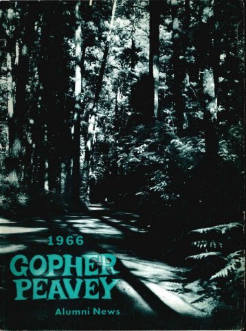 Gopher Peavey 1966 - Department of Forest Resources - University ...