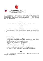 R J E Š E N J E - Bjelovarsko-bilogorska županija