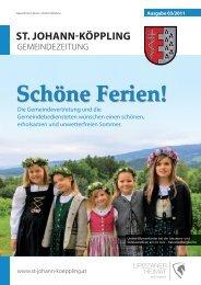 Schöne Ferien! - Gemeinde St. Johann-Köppling