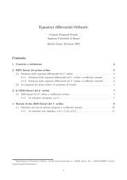 Equazioni differenziali Ordinarie - Dipecodir.it