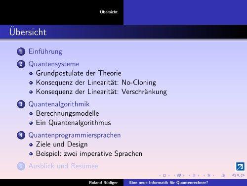 Eine neue Informatik für Quantenrechner? - Public.fh-wolfenbuettel.de