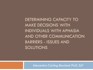 Determining Capacity To Make Decisions In Ind With Aphasia