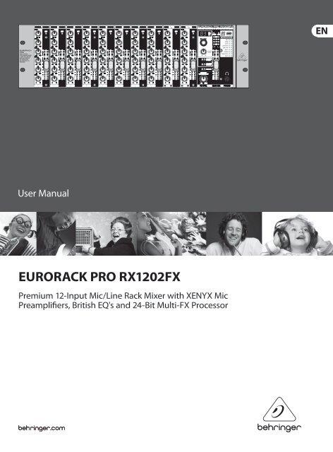EURORACK PRO RX1202FX - Pro Audio and Lighting