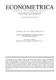 Virtual Determinacy in Overlapping Generations Models - Meet the ...