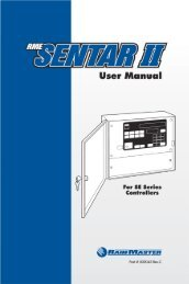 RainMaster RME Sentar II Controller Owners Manual - Irrigation Direct