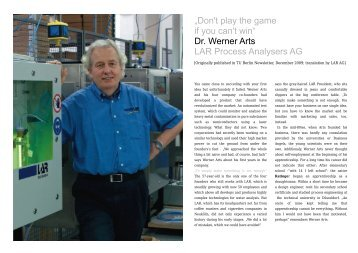 """""""Don't play the game if you can't win"""" Dr. Werner Arts LAR Process ..."""