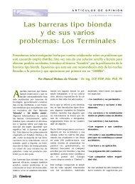 Las barreras tipo bionda y de sus varios problemas: Los Terminales