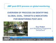 Targets and Indicators - WHO/UNICEF Joint Monitoring Programme