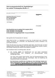 Dr. Sarrazin - Interessengemeinschaft der Kapitalanleger im ...