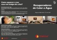 Recuperadores para Aquecimento Central - Lareiras Edgar Alexandre