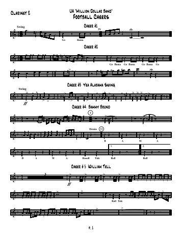 Clarinets 2 - University of Alabama Bands