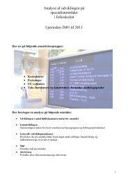 Specialistanalyse 2001 - Danmarks Lærerforening