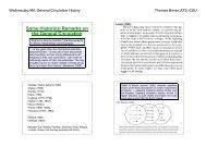 General Circulation History - cmmap