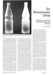 Der Mineralwasser -Effekt - Gute UnterrichtsPraxis