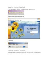 ImageNow Sunflower Basic Guide