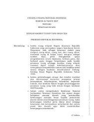 Undang-Undang No.26 Tahun 2007 - BNPB