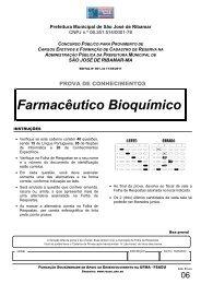 Farmacêutico Bioquímico - Fundação Sousândrade