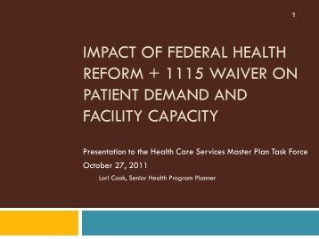 Presentation - San Francisco Department of Public Health