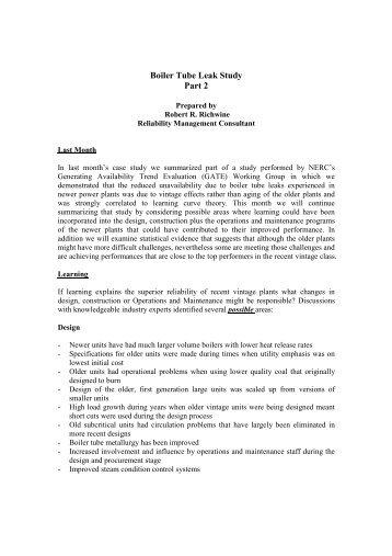 Boiler Tube Leak Study - Part 2.pdf - SERC Home Page
