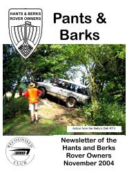 Pants & Barks - Hants & Berks Rover Owners
