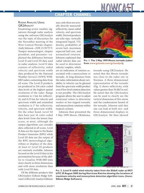 Radar Analysis Using GR2Analyst  - USF Weather Center