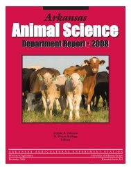 Arkansas - Agricultural Communication Services - University of ...