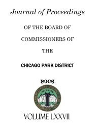 Journal of Proceedings ba - Chicago Park District