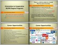 BS/MS Pharmaceutical Sciences Program - Chemical ...