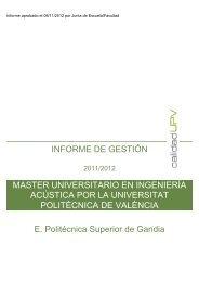 MASTER UNIVERSITARIO EN INGENIERÍA ACÚSTICA POR LA ...