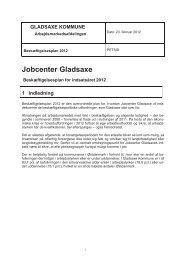 1. Bilag 1. Revideret Beskæftigelsesplan 2012 - Gladsaxe Kommune