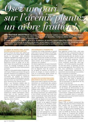 Plantez un arbre fruitier - Natagora