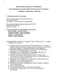 Sprawozdanie merytoryczne z działalności Stowarzyszenia ...
