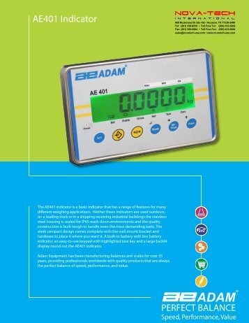 AE401 Indicator - Nova-Tech International, Inc