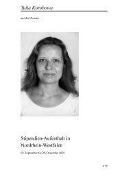 Yulia Korobowa - Heinz-Kühn-Stiftung