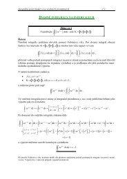 Dvojné integrály na intervalech