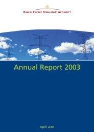 Annual Report 2003 - Energitilsynet