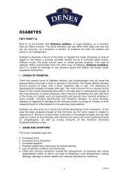 "Download PDF version of ""DIABETES "" - Denes Natural Pet Care"