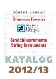 Streichinstrumente - Musikverlage Zimmermann und Robert Lienau