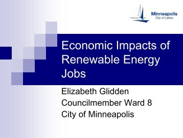 Economic Impacts of Renewable Energy Jobs in the Upper Midwest ...