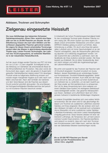 Zielgenau eingesetzte Heissluft - Leister
